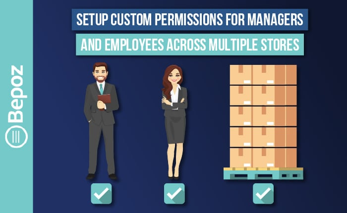 Setup Custom Permissions for Managers and Employees across Multiple Stores